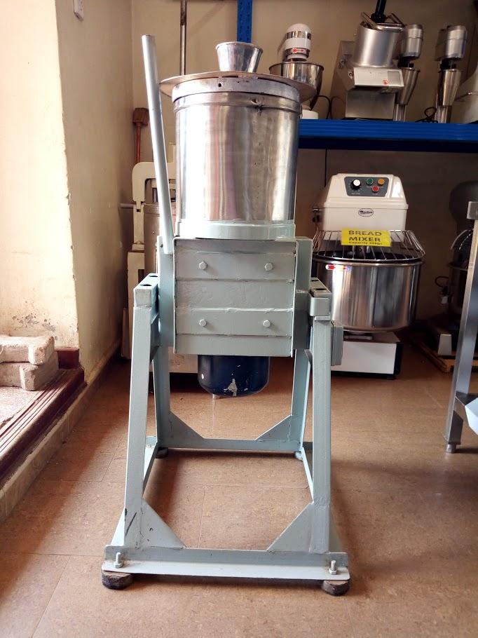 Groundnut machine on display.