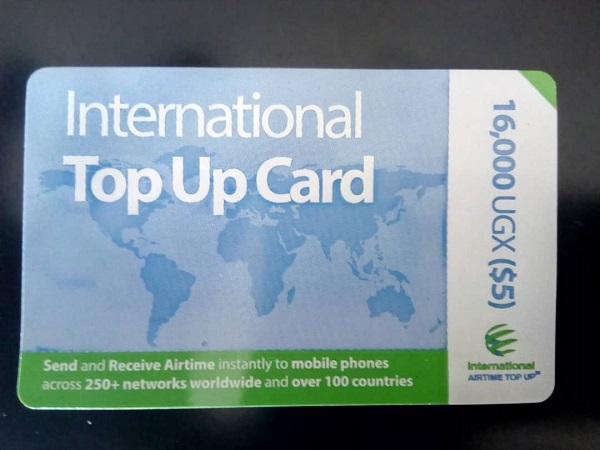 International Airtime Top Up Scratch card
