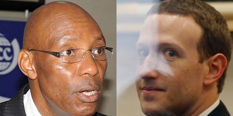 A collage of UCC Executive Director Godfrey Mutabazi (pictured by Daily Monitor) and Facebook Inc. CEO Mark Zuckerberg (pictured by Business Insider)