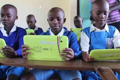 Laptops for pupils in Kenya