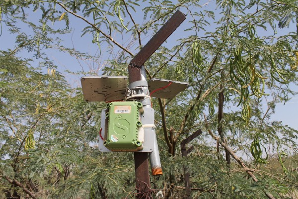 Through subcontractor SweetSense, real-time water system data can be tracked from borehole wells within remote communities directly to the regional water bureaus. Photo credit: Michael Blair