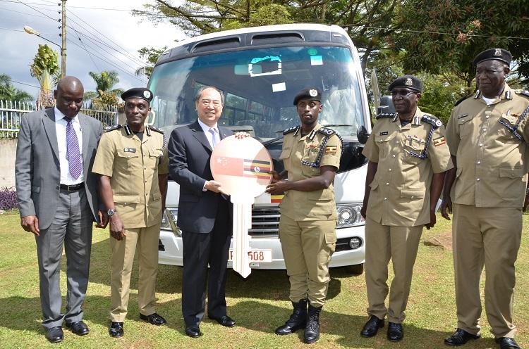 China donated a bus to Uganda police