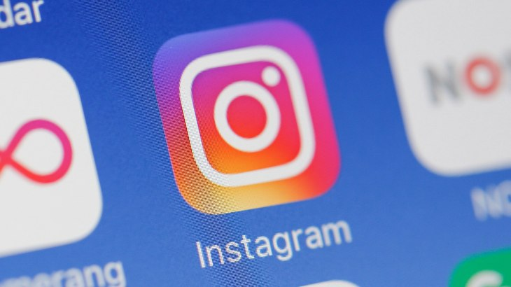 Instagram app on an iPhone.