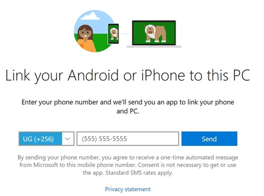 Connecting Windows 10 Your Phone app to Android Phone