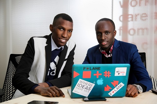 Moris Atwine and David Mwesigwa from breastIT Uganda