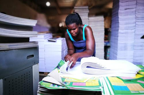 Morning Start Enterprise manufactures stationery for Ugandan institutions