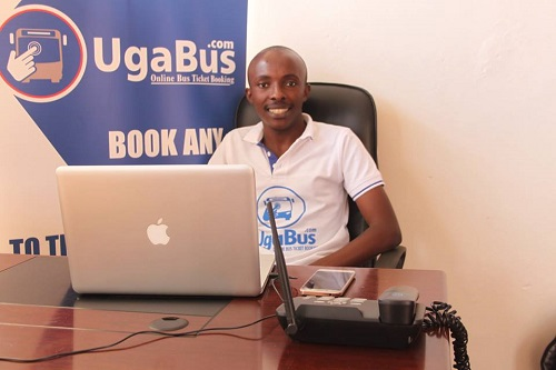 UgaBus founder and team leader Ronald Hakiza