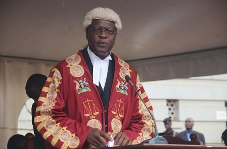 Chief Justice Bart Katureebe announces Uganda will file court cases online
