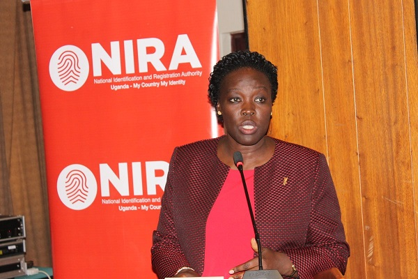 national registration NIRA Executive Director, Ms Judy Obitre-Gama making her presentation at a recent event