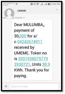 Load umeme token on yaka meter