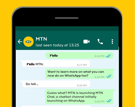 MTN airtime top-up WhatsApp