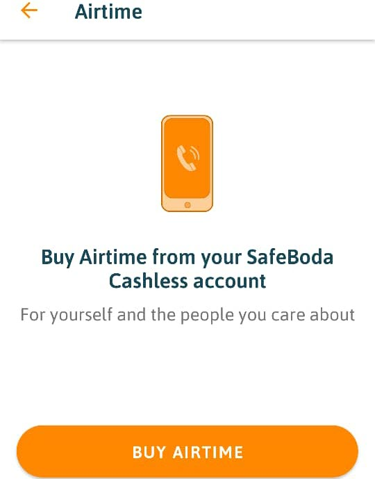 SafeBoda cashless account