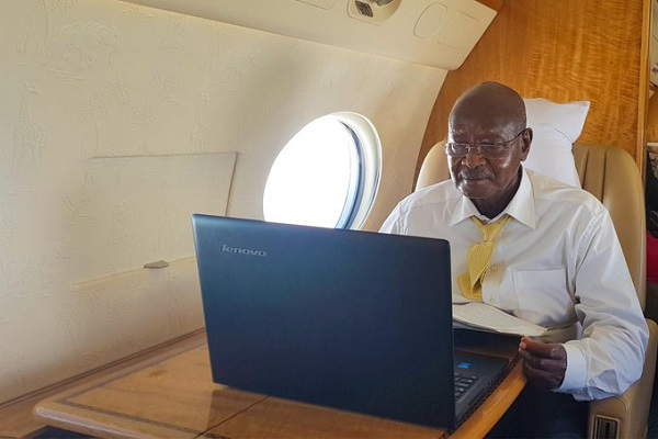 Museveni lenovo laptop