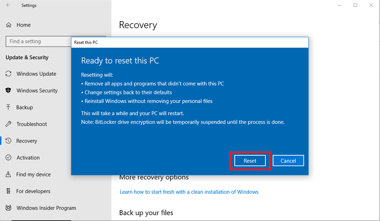 A simple guide to factory reset your Windows 10 computer ...