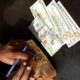 written on currency notes money