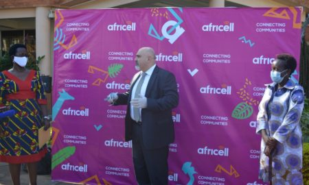 africell uganda covid-19 donation