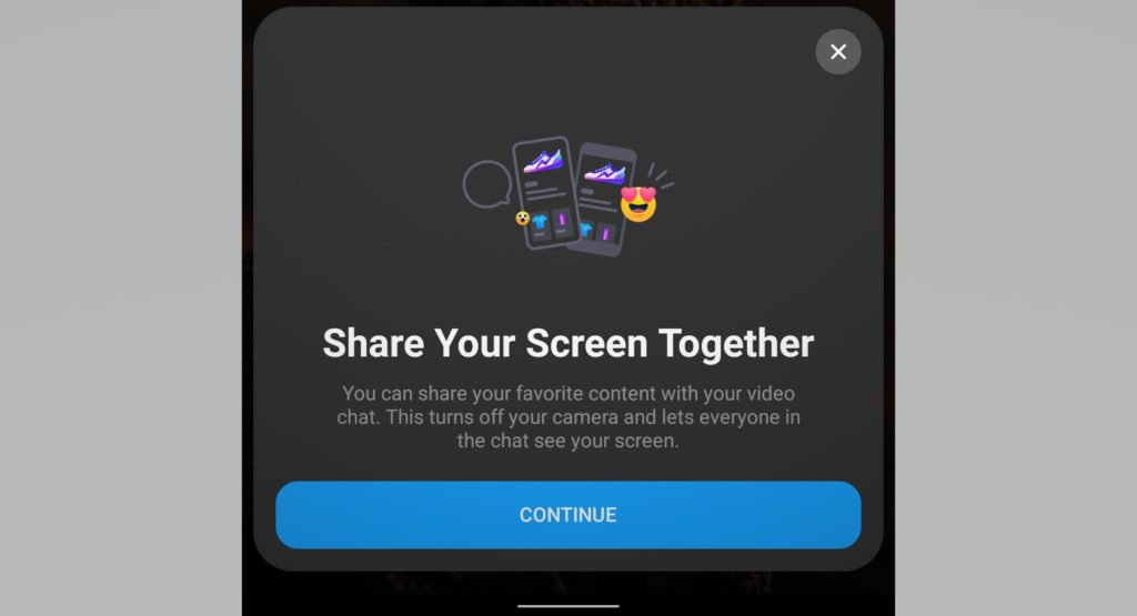 facebook messenger screen share
