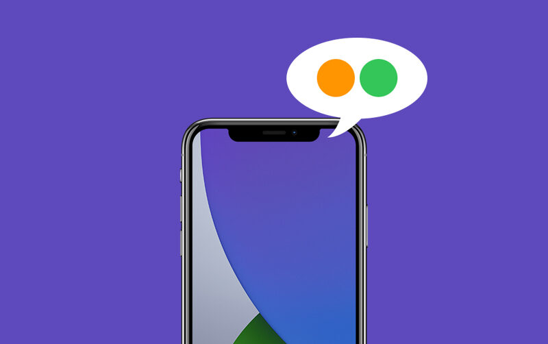 ios 14 green and orange dots